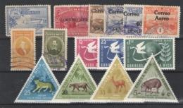 Costa Rica (aéreos) Nº 1, 5/9, 120/21, 185/87 350, 352 358. Años 1926-1962 - Costa Rica