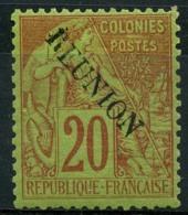 Reunion (1891) N 23 * (charniere) - Réunion (1852-1975)