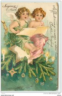 N°8023 - Carte Fantaisie Gaufrée - Joyeux Noêl - Anges Chantant - Noël