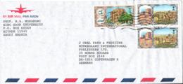 Saudi Arabia Air Mail Cover Sent To Denmark 22-2-1994 - Saudi Arabia