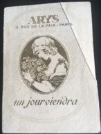 Carte Parfumée Parfum Arys Rue Paix Paris Dos Angoulême Coustal Cartes Postales - Cartes Parfumées