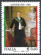 Italia, 2010 Cavour, 0.60 € # Sassone 3176 - Michel 3386 - Scott 3005 USATO - 6. 1946-.. República