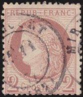 France  .   Yvert   .     51      .     O          .       Oblitéré - 1871-1875 Ceres