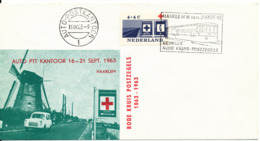 Netherlands Cover RED CROSS Auto Post Office Haarlem 16-9-1963 With Cachet And Nice Postmark - Red Cross
