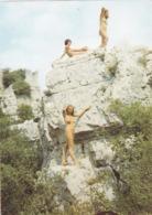 CPSM 30 @ SAINT PRIVAT DE CHAMPCLOS - Camping Libertin Le Ran Du Chabrier Au Château De Feyrerolles - Nudistes - France
