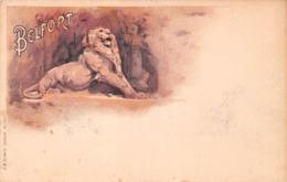 Belfort (90) - Le Lion - Illustration - TTBE +++ Dos Vierge - Belfort – Le Lion