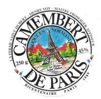 ETIQUETTE De FROMAGE...CAMEMBERT De PARIS Fabriqué En NORMANDIE..Ferme Saint Hubert..Henry VOY - Cheese