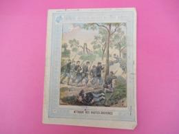 Couverture De Cahier D'écolier/Nouvelles Anecdotes Militaires/Attaques Des Hautes Bruy/Schuehmacher/Vers1890-1900 CAH246 - Papierwaren
