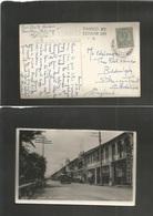 MALAYSIA. 1940 (6 Dec) Pahang. Kuantan - UK, Biddulph, Staffordshire. Fkd Photo Card + Censor Depart Cachet. Better. - Malaysia (1964-...)