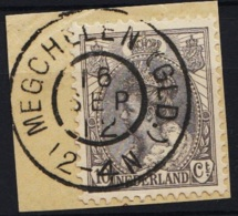 Grootrond GRHK 513 Megchelen (Gld.) Op 62 - Marcophilie