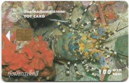 Thailand - TOT (Chip) - Shrimp, Panulirus Ornatus - Exp. 12.2004, 100฿, Used - Thailand