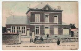 Doische - Maison Communale Et Ecole Des Filles - Ed. Bernard Huret - Colorisée - RARE - Doische
