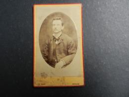 7ogg) ANTICA FOTOGRAFIA FOTOGRAFO GIACOMO MAURI BERGAMO - Antiche (ante 1900)
