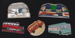 59747-lot De 5 Pin's .transport.bus.car.... - Transports
