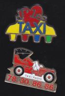 59748-lot De 2 Pin's .transport.taxi.... - Transports