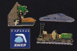 59750-lot De 4 Pin's .transport.RATP.train.SNCF.. - Transports