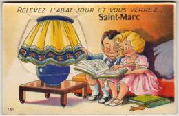 D44  Relevez L'Abat Jour Et Vous Verrez SAINT MARC ......  Carte à Système Avec Dépliant De Petites Photos Complet - Saint Nazaire