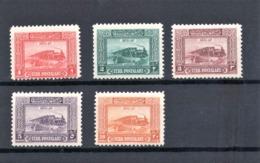 Turkey 1926 Scott #J92 - J96  Mint NH Steam And Bridge - 1921-... República
