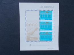 PORTUGAL / ACORES - Blocs Feuillets   N° 5  Europa Cept  Année 1984  Neuf XX ( Voir Photo )  4 - Blokken & Velletjes