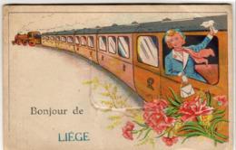BELGIQUE  Bonjour De LIÈGE ......  Carte à Système Avec Dépliant De Petites Photos Complet - Liège