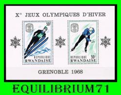 BL10A** (242A/B) - 10e Jeux Olympique D'hiver à Grenoble /10e Olympische Winterspelen Te Grenoble - 1968 - Rwanda