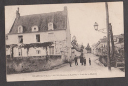 CPA BRAIN-SUR-L'AUTHION-Rue De La Mairie-Animée- - Other Municipalities