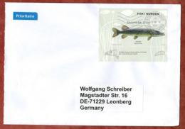 Grossbrief, Hecht, Nach Leonberg 2018 (78814) - Cartas