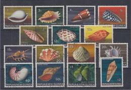 Papua Neu Guinea 1968 Schnecken Muscheln Tintenfische Mi.-Nr. 139-53 Satz  O - Papua New Guinea