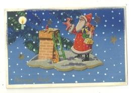 FANTAISIE ILLUSTRATEUR PERE NOEL SANTA CLAUS CARTE A SYSTEME HEUREUX NOEL JOUETS - Santa Claus