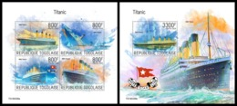 TOGO 2019 - Titanic, M/S + S/S. Official Issue - Ships