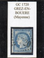 Mayenne - N° 60C (déf) Obl GC 1720 Grez-en-Bouère - 1871-1875 Cérès
