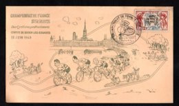 FRANCE  Championnat De France Sur Route Circuit De ROUEN LES-ESSARTS 18 JUIN 1963 Document Philatélique Timbre N° 955 - Cycling