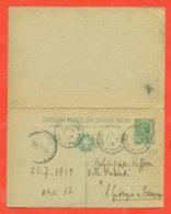 INTERI POSTALI - C 37/13 - DA NAPOLI PER SAN GIORGIO A CREMANO - 1900-44 Vittorio Emanuele III