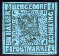 Bergedorf. Scott #1. Unused. (*) - Bergedorf