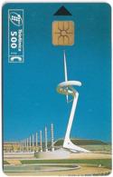 Spain - Telefonica - Torre Calatrava Bcn - P-164 - 12.2005, 6.000ex, Used - España