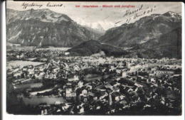 648. Interlaken Mönch Und Jungfrau. De Harriel à Melle Maria Jeanne Praslon à Château Chinon. 1908. - BE Berne