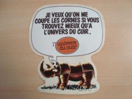 AUTOCOLLANT L'UNIVERS DU CUIR - Stickers