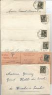 1934 - COB N° 401 à 403 Oblitérés (o) Sur Lettre, Carte Ou Doc. - 14 Exemplaires  ATTENTION POUR ENVOI: FORMAT > NORMAL - Lettres & Documents