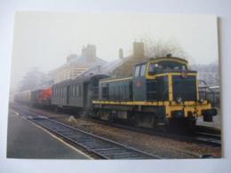 BRESSUIRE (79) : Loco Diesel BB 63422en Tête Du Train MV N°36875 Provenant De THOUARS - Février 1985 - Voir Les 2 Scans - Trenes