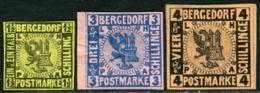 Bergedorf. Scott #3-5. Unused. */(*) - Bergedorf