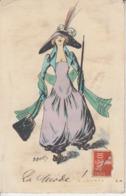Illustrateur ROBERT - Femme Chapeau Mode ( ETAT )  PRIX FIXE - Robert