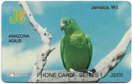 Jamaica - C&W - Amazona Agilis Parrot - 8JAMA - 100J$, 1992, Used - Jamaïque