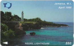 Jamaica - C&W - Negril Lighthouse - 19JAMA - 50J$, 1995, Used - Giamaica