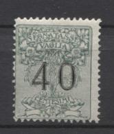 REGNO 1884 SEGNATASSE PER VAGLIA 40C. ** MNH - 1900-44 Victor Emmanuel III.
