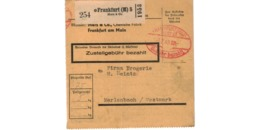 Allemagne  - Colis Postal  Départ Frankfurt  - Merz & Co  - 3/2/1943 - Allemagne