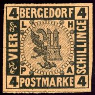 Bergedorf. Scott #5. Mint. ** - Bergedorf