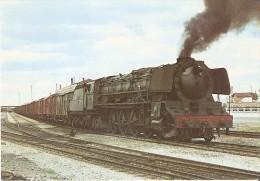 Nº 91 POSTAL DE ESPAÑA DE UNA LOCOMOTORA 242 F-2010 EN CASTEJON (TREN-TRAIN-ZUG) AMICS DEL FERROCARRIL - Trenes