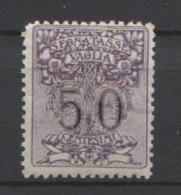 REGNO 1884 SEGNATASSE PER VAGLIA 50 C. ** MNH - 1900-44 Victor Emmanuel III.