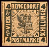 Bergedorf. Scott #5. Unused. (*) - Bergedorf