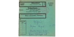 Allemagne  - Colis Postal  Départ Düsseldorf  -  30/1/1943 - Allemagne
